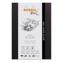 "Rhodia Touch Maya Pads-White, Cross-n-Dot 5"" x 8"", Cover"