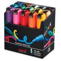 Uni-Posca Paint Markers - Basic Colors, Set of 15, Bullet Tip, 7 mm
