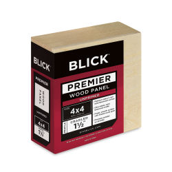 Blick Premier Wood Panel - 4'' x 4'', 1-1/2'' Gallery Profile, Cradled
