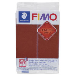 Staedtler Fimo Leather Effect Clay - Nut, 2 oz