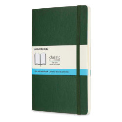 "Moleskine Classic Soft Cover Notebook - Metallic Green, Dotted, 8-1/4"" x 5"""