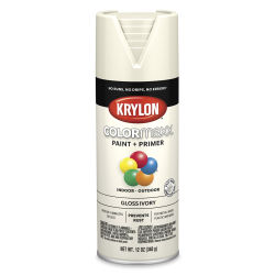 Krylon Colormaxx Spray Paint - Ivory, Gloss, 12 oz