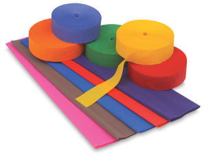 Colored Crepe Paper Rolls & Sheets
