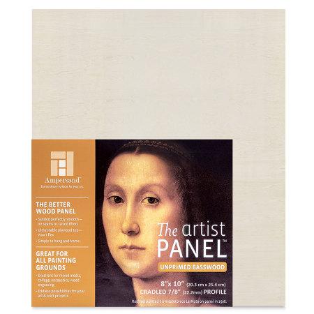 Ampersand Value Series Artist Wood Panel - 8'' x 10'', 7/8'' Cradle