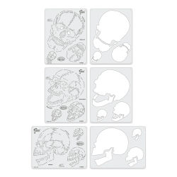Iwata Artool Freehand Template - Set of 3, Horror of Skull Master