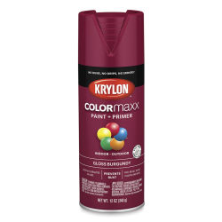 Krylon Colormaxx Spray Paint - Burgundy, Gloss, 12 oz