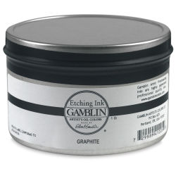 Gamblin Etching Ink - Graphite, 1 lb