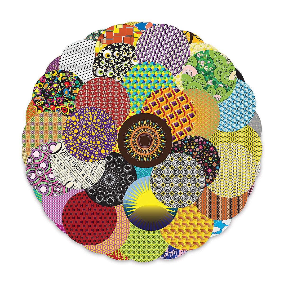 Roylco Crafty Circles - 5 circles, Pkg of 144