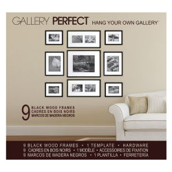 Nielsen Bainbridge Gallery Perfect Frame Sets - Black Matte Set of 9