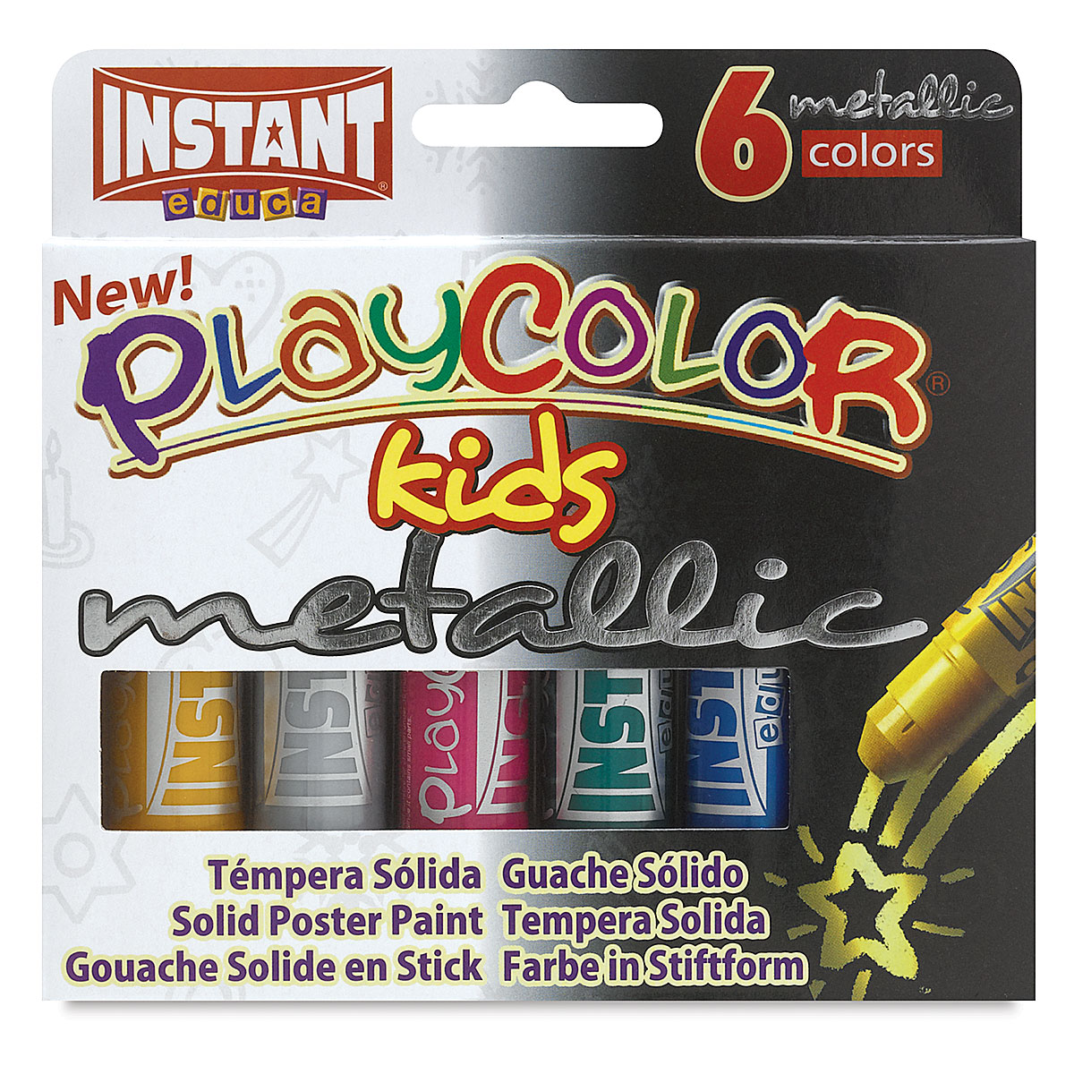 Playcolor - Metallic Colors, Set of 6, Standard Size