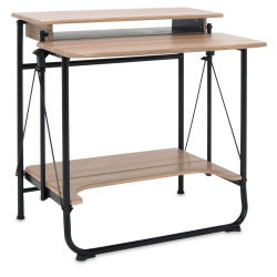 Studio Designs Stow Away Desk - Black and Driftwood