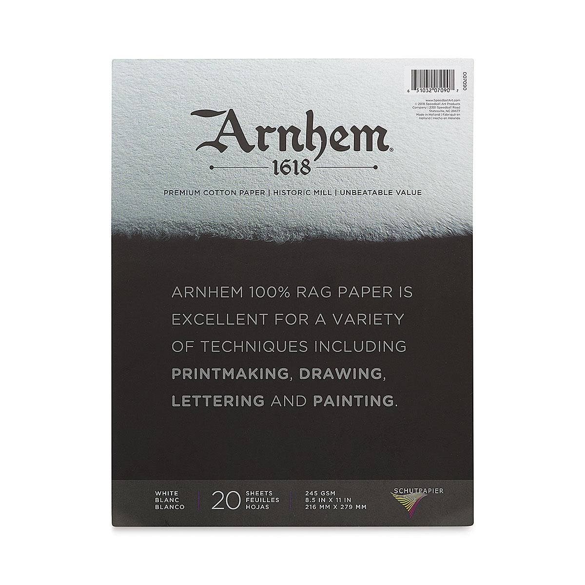 Arnhem 1618 Paper Pad by Speedball - 8-1/2 x 11, 20 sheets