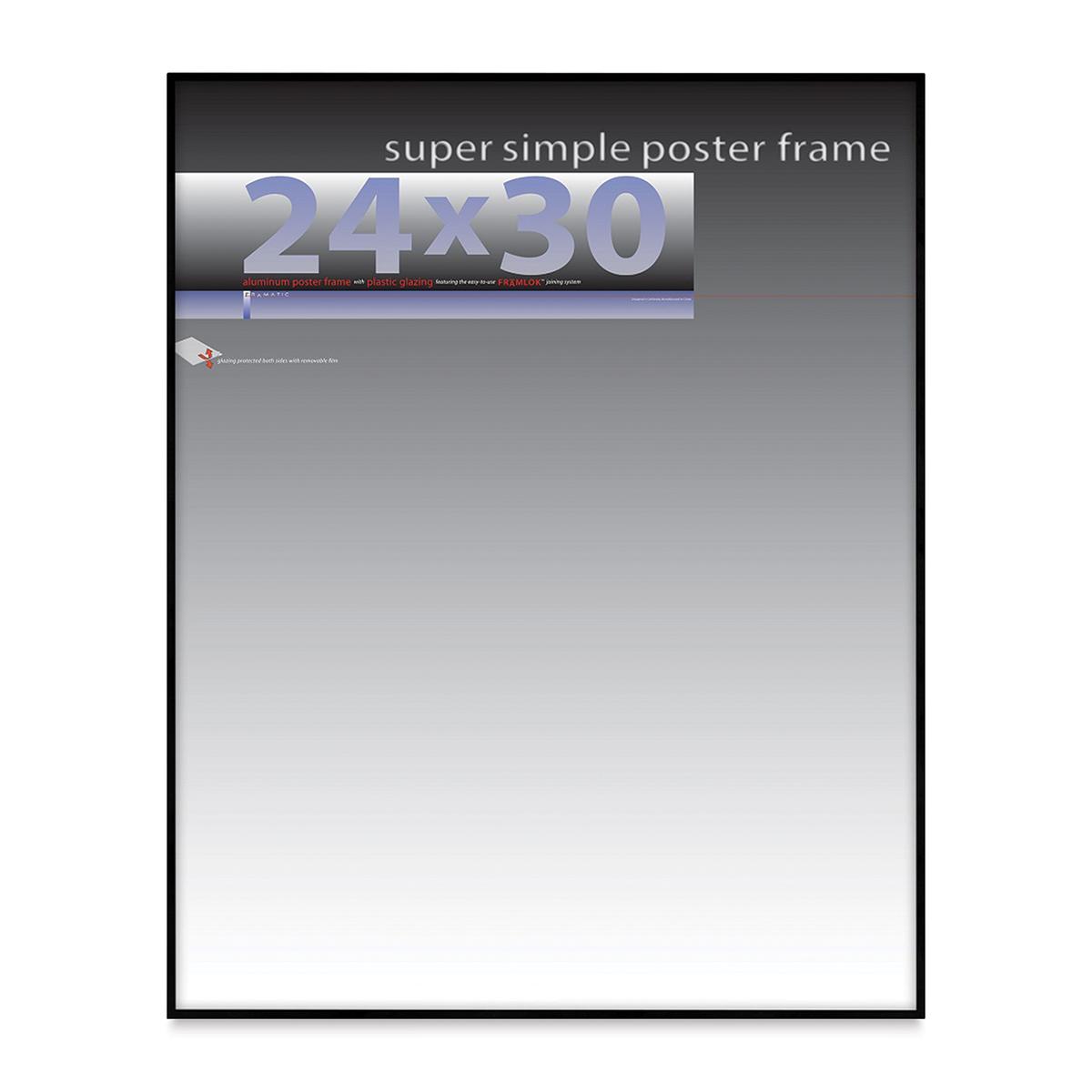 Framatic Super Simple Poster Frame - Black, 24 x 30