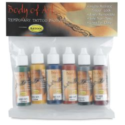 Medea Body-Art Airbrush Paint - Set 1, Set of 6, Assorted Colors, 1 oz, Bottles (In packaging)