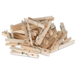 Large Wooden Spring Clothespins