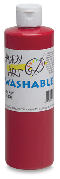 Handy Art Washable Paint - Red, 16 oz