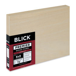 Blick Premier Wood Panel - 6'' x 8'', 7/8'' Traditional Profile, Cradled