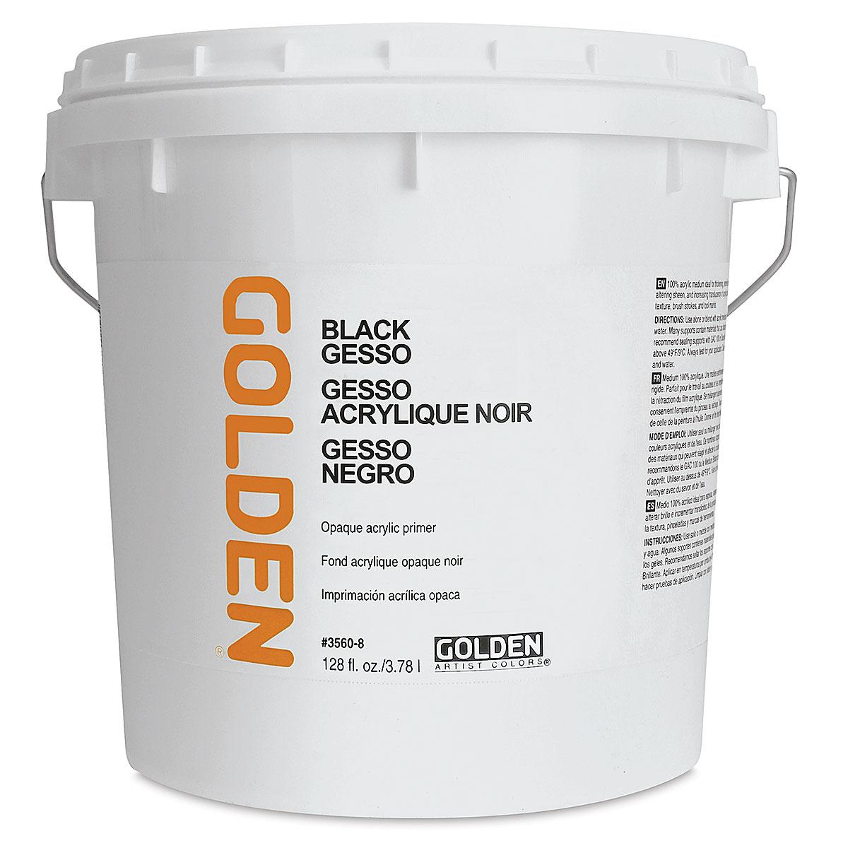 Golden Gesso - Black, 128 oz tub