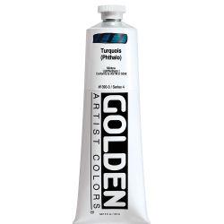 Golden Heavy Body Artist Acrylics - Turquoise (Phthalo), 5 oz Tube