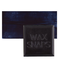 Enkaustikos Wax Snaps Encaustic Paints - Payne's Gray, 40 ml, Cake with Swatch