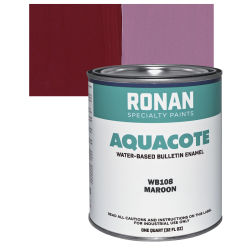 Ronan Aquacote Water-Based Acrylic Color - Maroon, Quart
