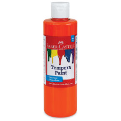 Faber-Castell Tempera Paint - Orange, 8 oz Bottle