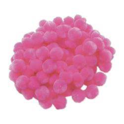Acrylic Pom Pons - Pkg of 100, 1/2'', Light Pink