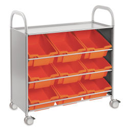 Gratnells Callero Plus Tilted Tray Cart - Flame Red