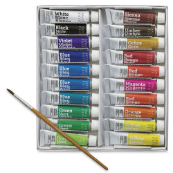 Savoir Faire Opaque Watercolor Gouache - Set of 20 Colors, 10 ml tubes
