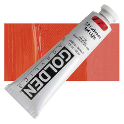 Golden Heavy Body Artist Acrylics - Cadmium Red Light, 2 oz Tube