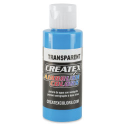 Createx Airbrush Color - 2 oz, Transparent Caribbean Blue