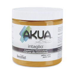 Akua Intaglio Ink - Yellow Ochre, 237 ml
