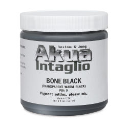 Akua Intaglio Ink - Bone Transparent Black, 237 ml