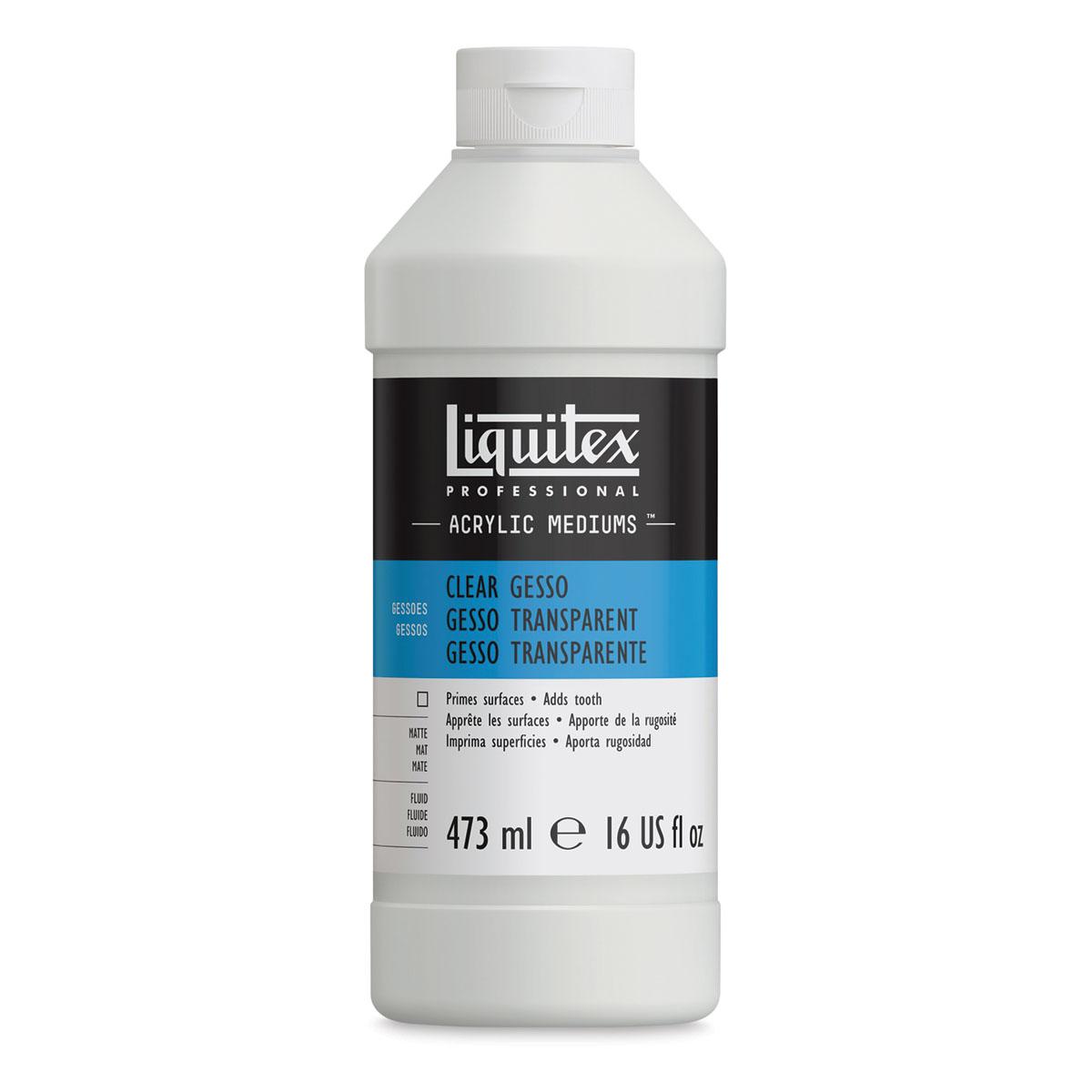 Liquitex Acrylic Gesso - Clear, 16 oz bottle
