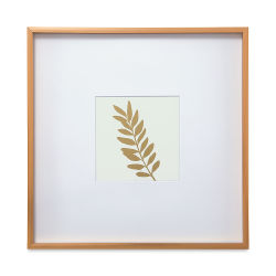 Blick Modern Gallery Frame - 12'' x 12'' w/5'' x 5'' Opening, Gold
