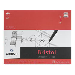 Canson Bristol Pad - 19'' x 24'', Smooth, 15 Sheets
