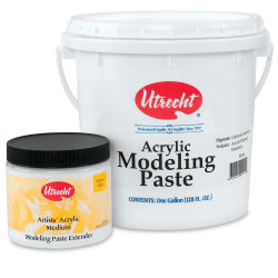 Utrecht Acrylic Medium - Modeling Paste Extender, Quart