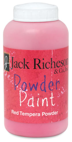 Richeson Powder Tempera Paint - Red, 1 lb Jar