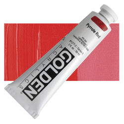Golden Heavy Body Artist Acrylics - Pyrrole Red, 2 oz Tube