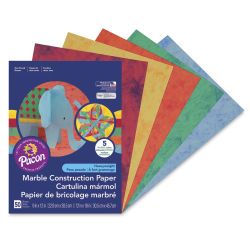Pacon Marble Construction Paper - 9'' x 12'', 50 Sheets