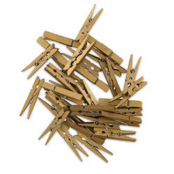 Darice Wooden Clothespins - Gold, Pkg of 30