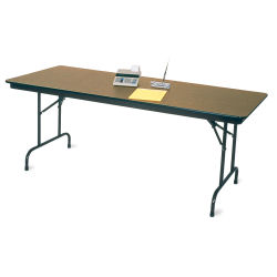 Budget-Priced Folding Table - 30'' x 60'', Walnut