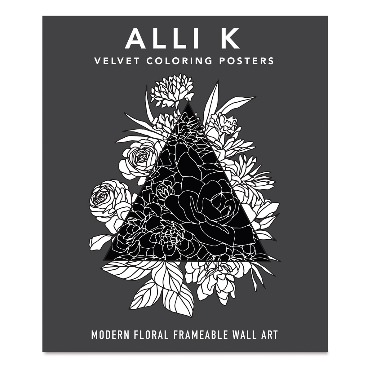 Velvet Coloring Posters: Modern Floral Frameable Wall Art