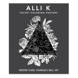 Velvet Coloring Posters: Modern Floral Frameable Wall Art, Cover