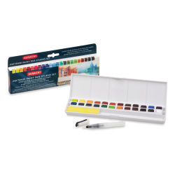 Derwent Inktense Paint Pans - Palette Set of 24