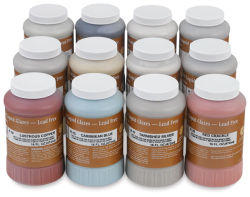 Amaco Lead-Free Raku Glazes - Set of 12, Pints