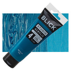 Blick Studio Acrylics – Teal Metallic, 4 oz tube