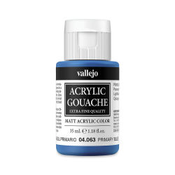 Vallejo Acrylic Gouache - Primary Blue, 35 ml