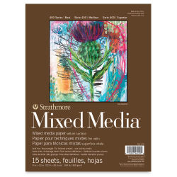 Strathmore 400 Series Mixed Media Pad - 9'' x 12'', 15 Sheets