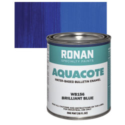 Ronan Aquacote Water-Based Acrylic Color - Brilliant Blue, Pint